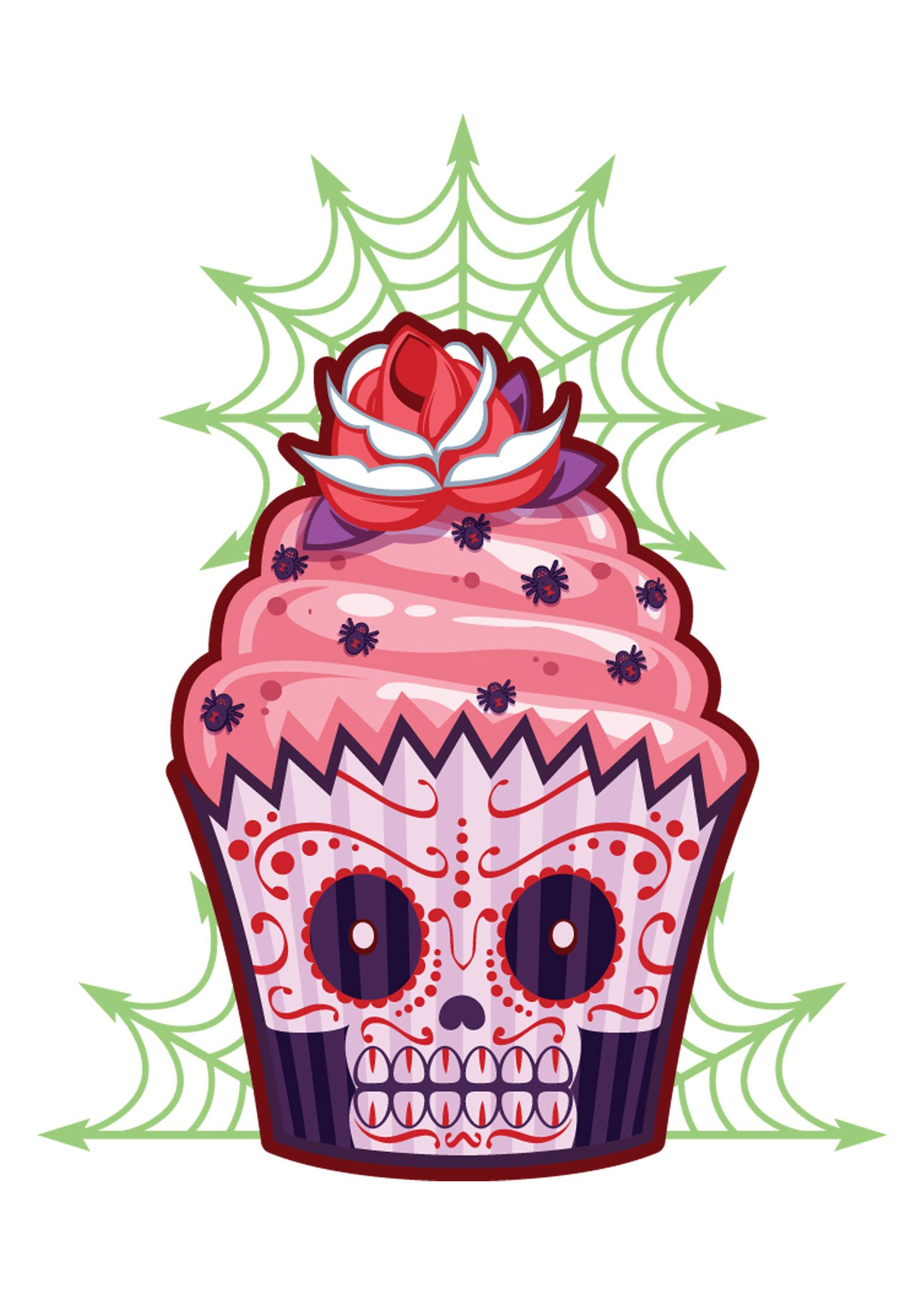 Sugar Skull clipart creepy Tattoo Cakes Sugar Tattoos Creepy