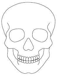 Drawn skull simple Clker Clip Image for result