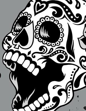 Drawn skeleton dia de los muertos / Muertos Sugar Art Skull