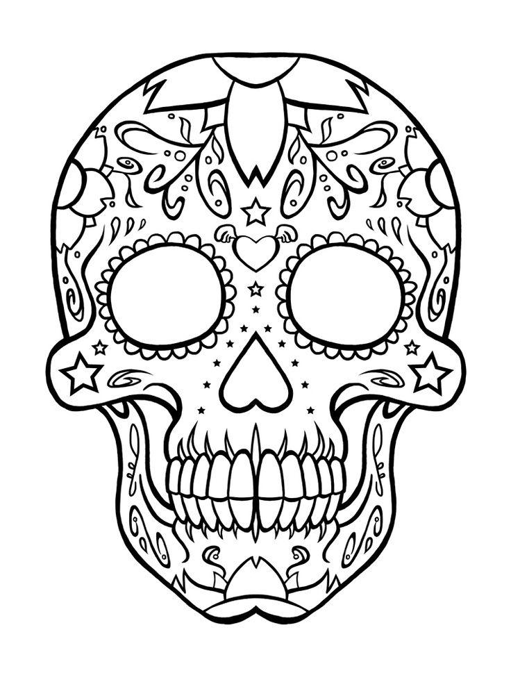 Drawn sugar skull dia de los muertos Day Pages Pinterest 22 Skulls