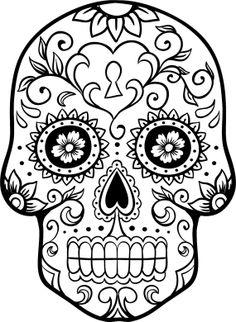 Sugar Skull clipart dia del Tattoo result Pinterest Muertos outline