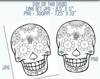 Sugar Skull clipart dotd The File Art of Dead