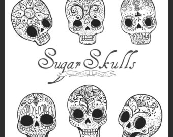 Sugar Skull clipart dotd Drawn Digital Skull Hand Digital