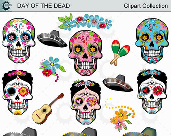 Sugar Skull clipart dotd Day Collection Dead Skulls Of