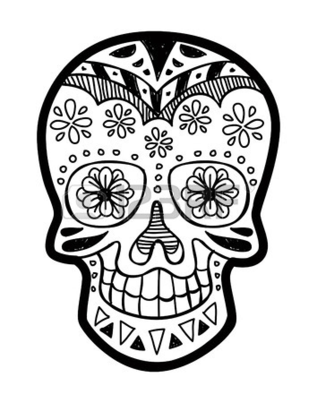 Drawn sugar skull vector Cliparts Skull Cliparts And Stock