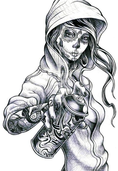 Sugar Skull clipart graffiti Pinterest Tumblr Best the 25+