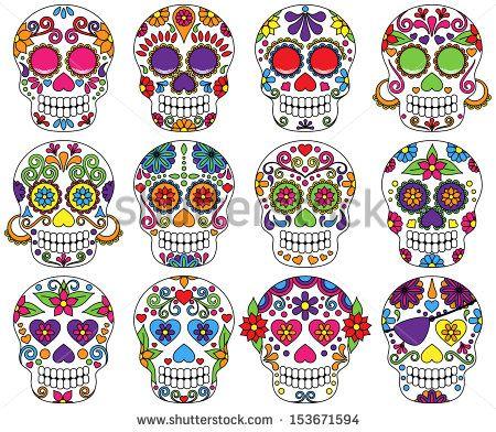 Sugar Skull clipart graffiti Los Skulls 153671594 Dead Pinterest