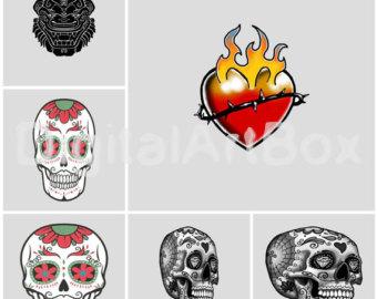 Sugar Skull clipart heart Skull Home skull Sugar Sign