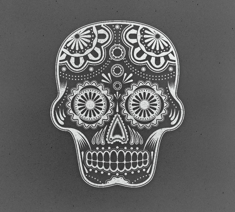 Drawn sugar skull vector How a Sugar Detailed Create