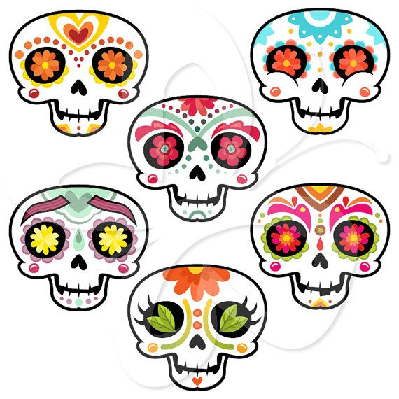 Sugar Skull clipart mexican Clipart Personal  Day the
