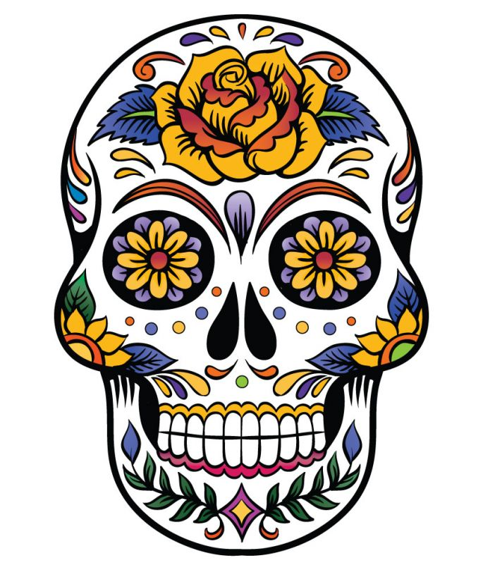 Sugar Skull clipart mexican Cet peut ClipArt Attention Clip