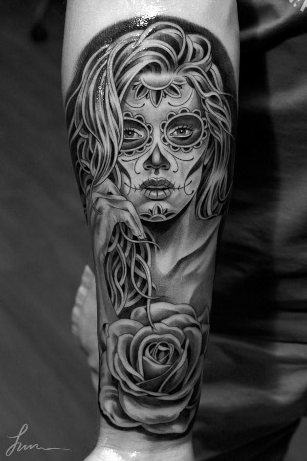 Sugar Skull clipart mexican lady Tattoo on photos Sugar «