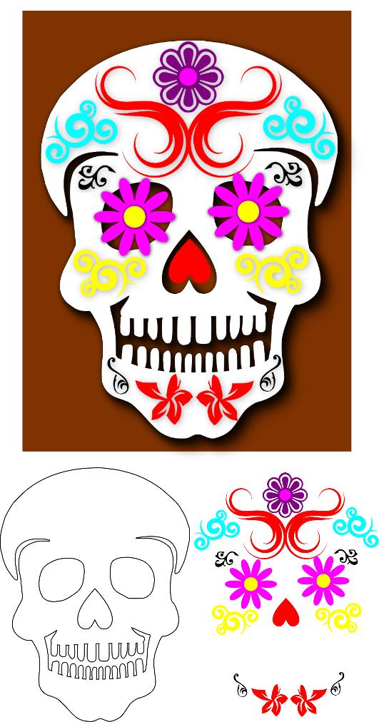 Sugar Skull clipart mexican lady SVG Sugar **Updated** Wolf: Skull