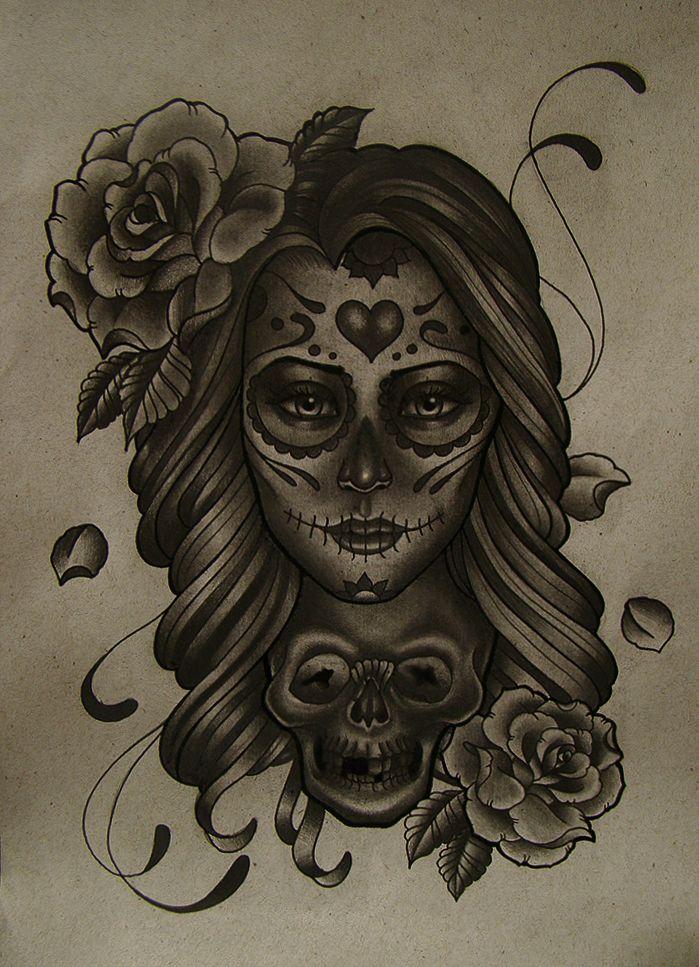 Drawn skull female skull Sketches Tattoo ideas Dead Best