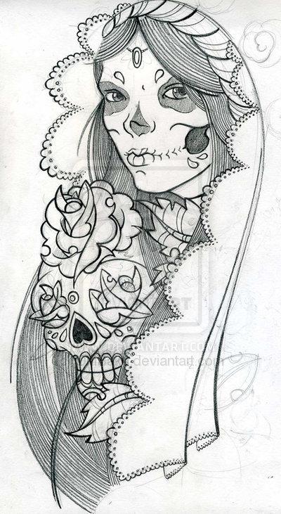 Sugar Skull clipart mexican lady Skull De Candy TattoosMexican ·