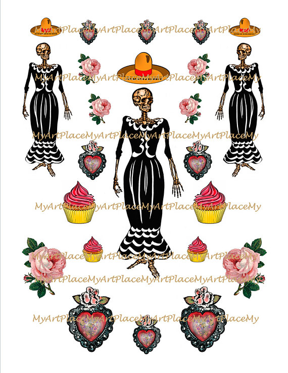 Day Of The Dead clipart la catrina Muertos Day the Catrina Fiesta