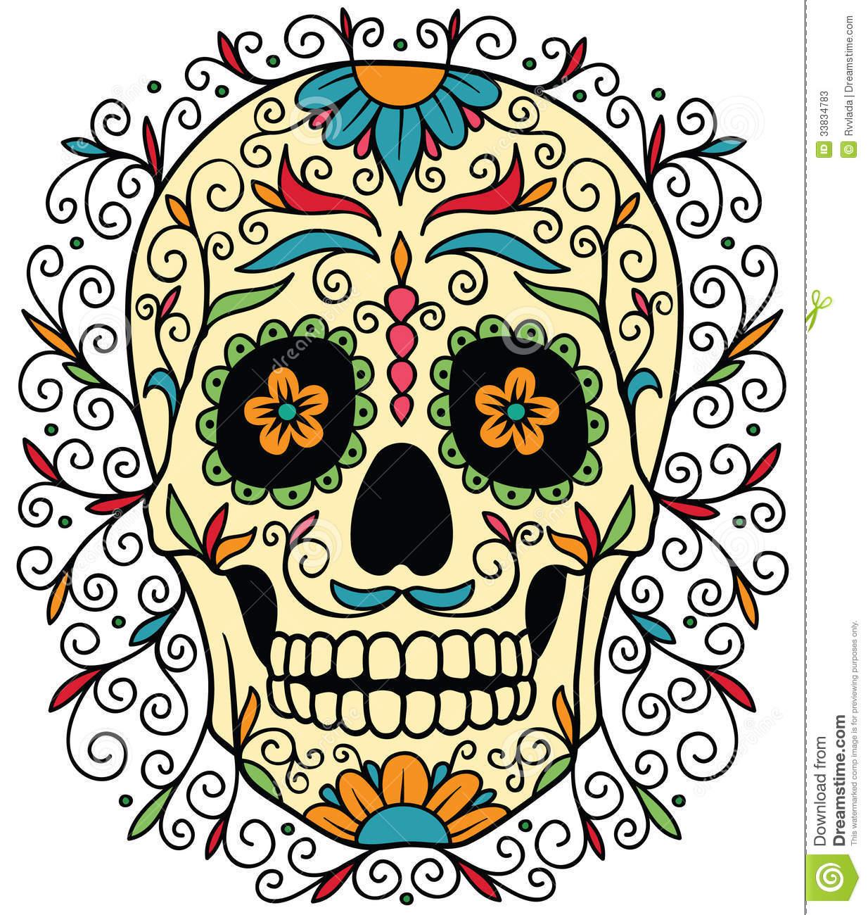 Sugar Skull clipart mexican lady  Sugar Mexican Stock Skulls