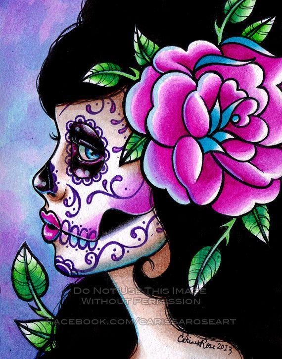 Sugar Skull clipart mexican lady Ideas Art Skull Edition Print