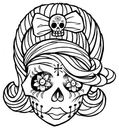 Sugar Skull clipart mexican lady Pinterest Sugar muertos skull los