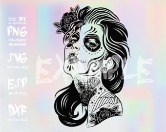 Sugar Skull clipart mexican lady Svg Dead skull Of Girl