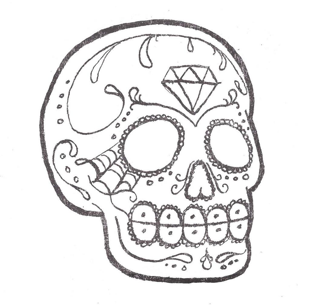 Sugar Skull clipart outline Skull Skull a photo Sugar