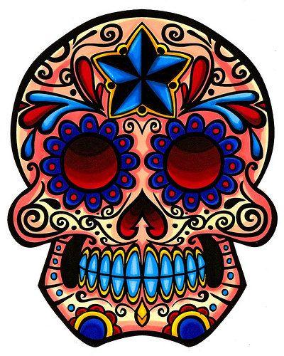 Sugar Skull clipart outline Skull skull Art Sugar Pinterest