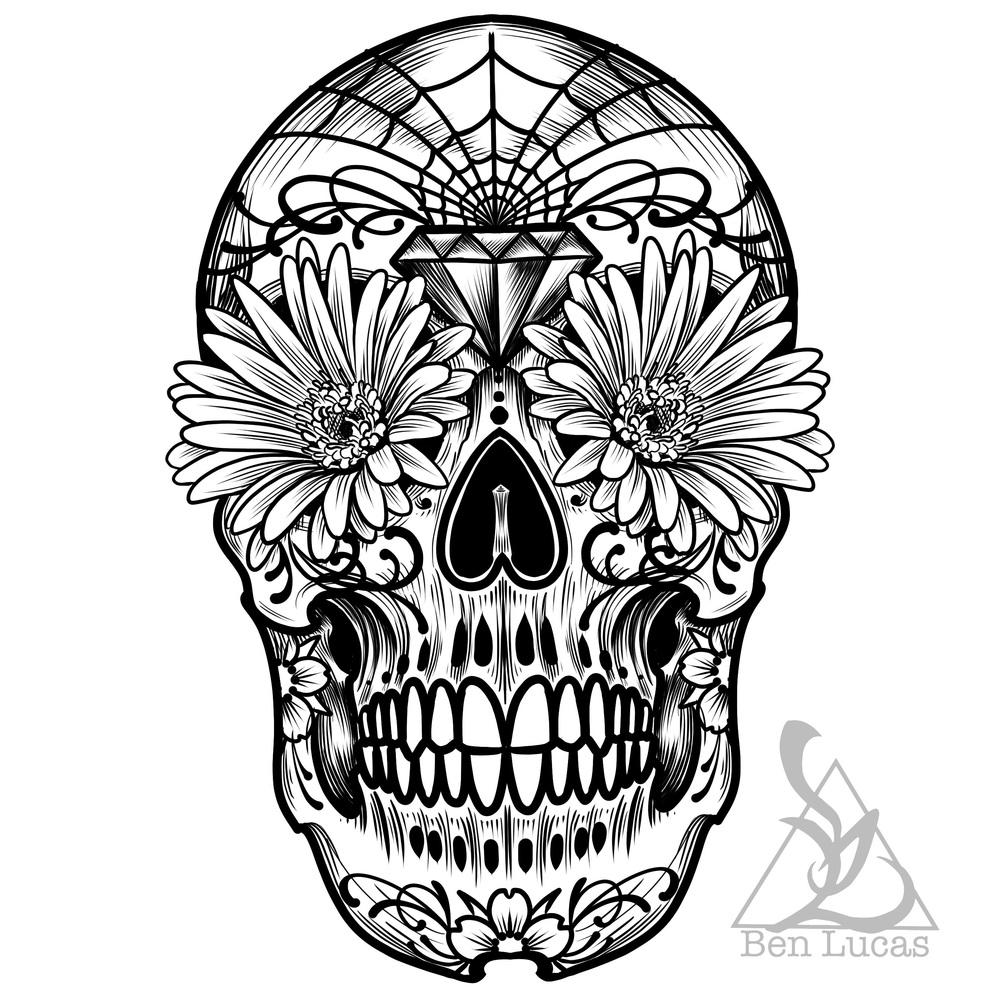 Sugar Skull clipart outline Skull Clipart Outline Skull