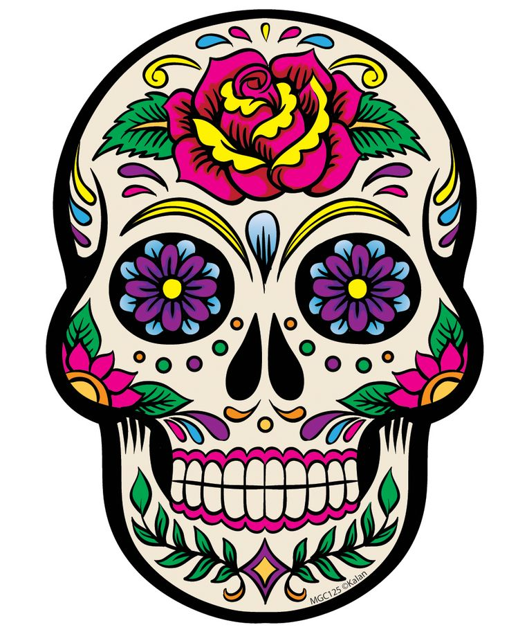 Drawn sugar skull skeleton head For Muertos Dia 285 Skull