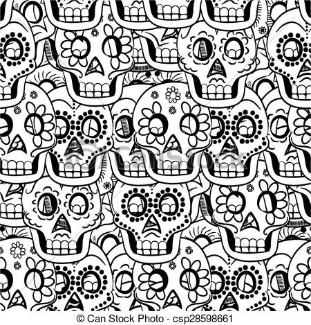 Sugar Skull clipart pattern Dead Seamless the the Dead