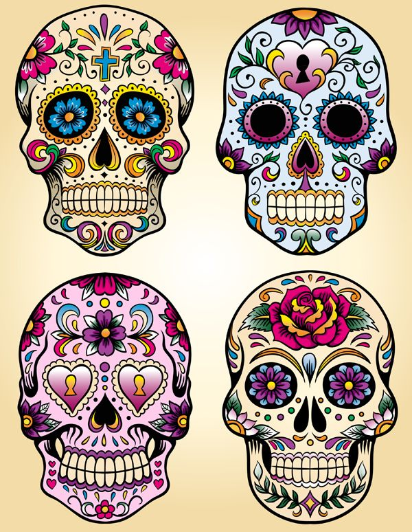Sugar Skull clipart pattern Pinterest a los on muertos