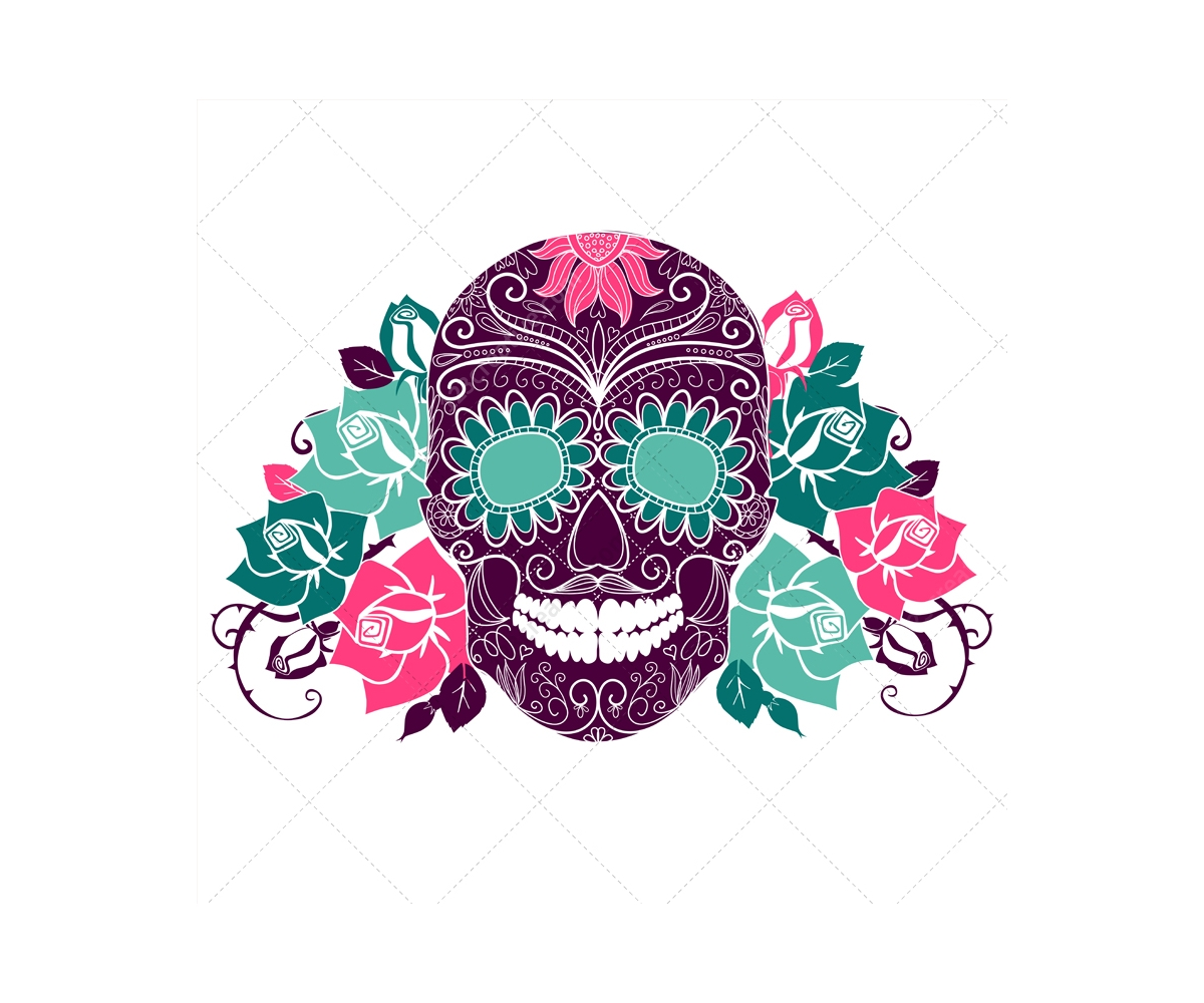 Sugar Skull clipart pattern Art sugar vectors Clip and