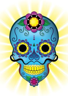 Sugar Skull clipart shugar 6 Coloring dead Beautiful Skull
