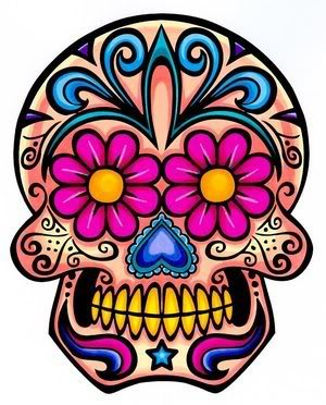 Sugar Skull clipart symmetrical Day graph candy of the