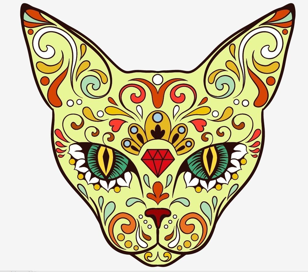 Sugar Skull clipart symmetrical About sticker day Animal