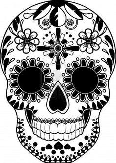 Drawn sugar skull dia de los muertos Com/400wm/400/400/ SKULL  WITH 123rf