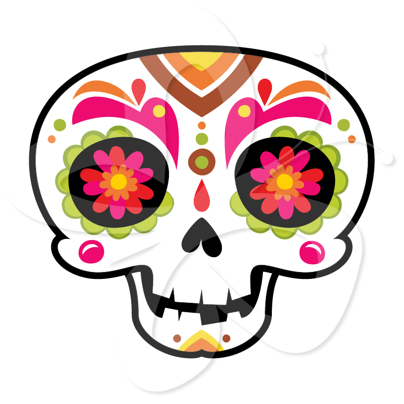 Day Of The Dead clipart girly skull  of Skulls Skulls Set