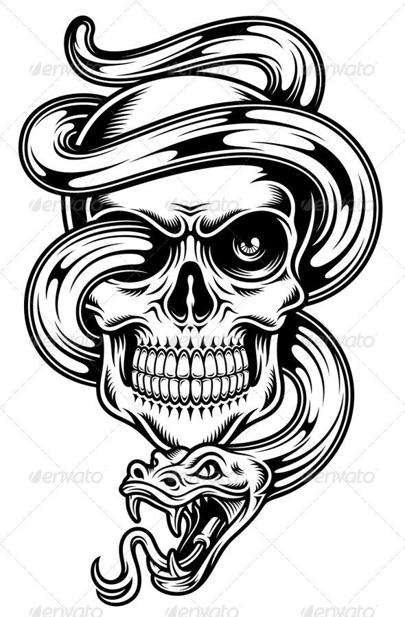 Sugar Skull clipart tribal Skull Snake JPG With #tribal