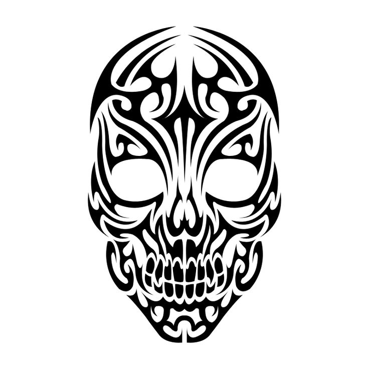 Sugar Skull clipart tribal Tattoos about Stencils 96 images