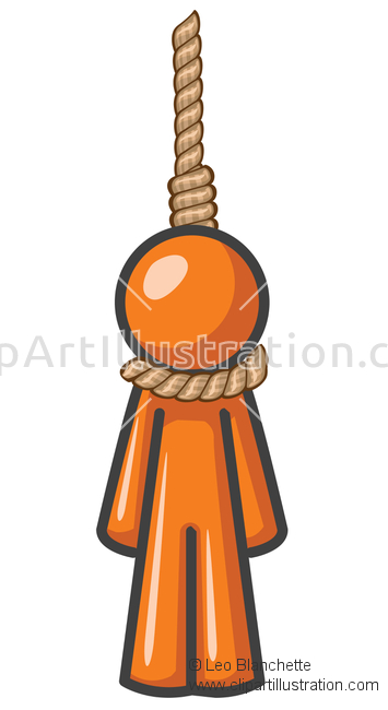 Suicide clipart upset man Man in Man Hung or