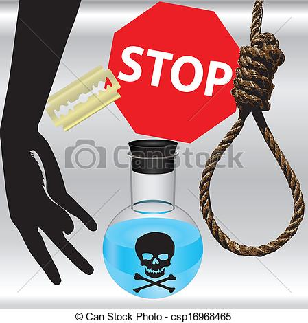 Suicide clipart sharp knife  poster Day Art Prevention