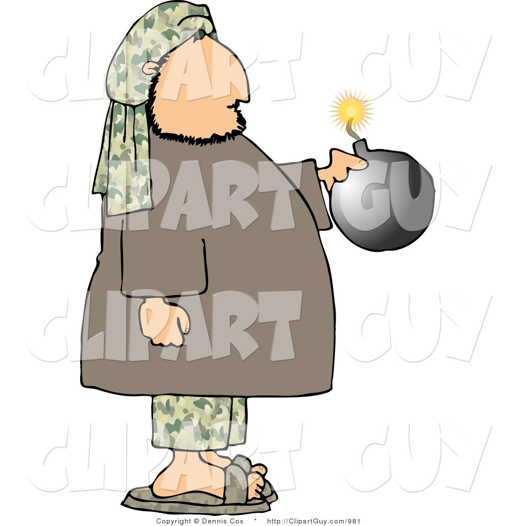 Suicide clipart bomber Art Male a Male Burning