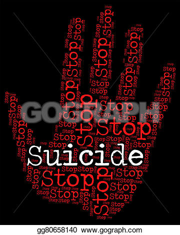 Suicide clipart caution sign Stop life and indicating Illustration