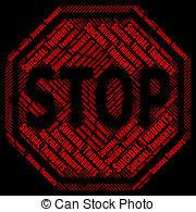 Suicide clipart caution sign Suicidal Caution Shows Stop Illustrations