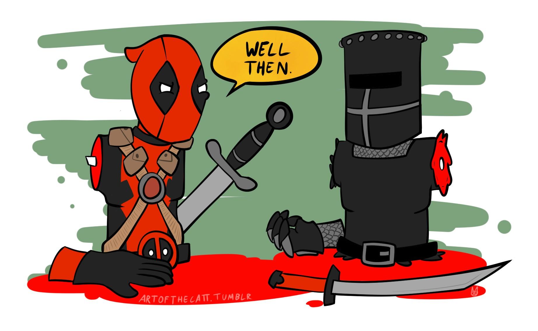 Suicide clipart deadpool : Knight Knight Deadpool Deadpool