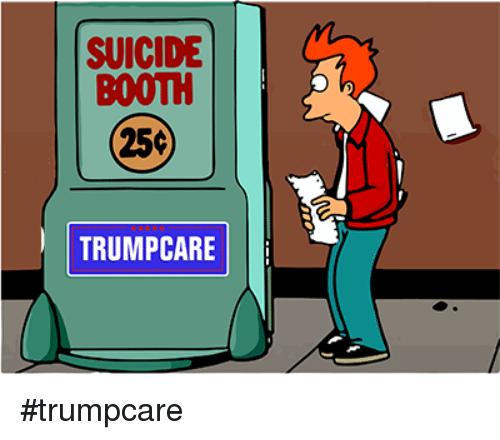 Suicide clipart help me BOOTH Politics TRUMP 25C SUICIDE