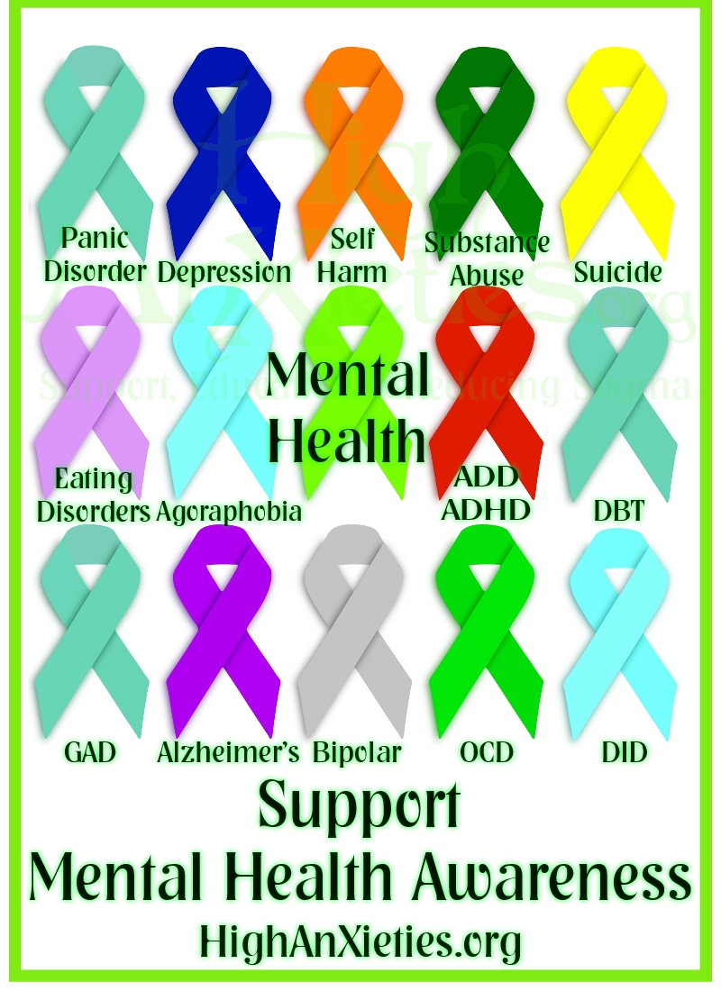 Suicide clipart mental illness Ribbons High Health Mental Mental