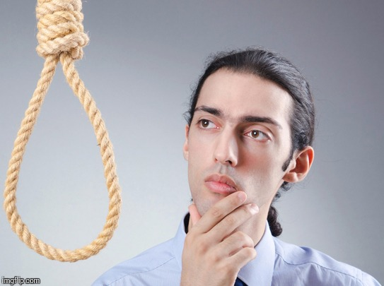 Suicide clipart sad guy Contemplating guy Imgflip suicide suicide