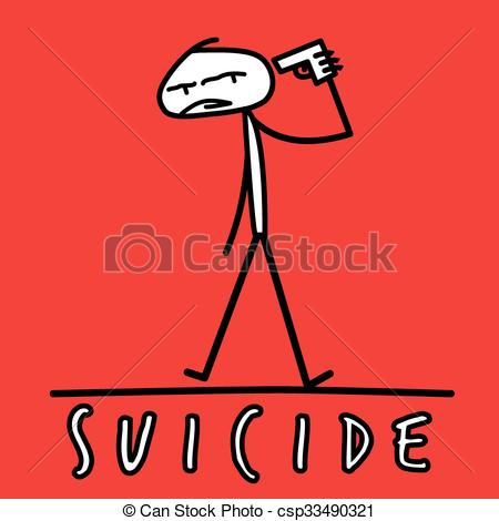 Suicide clipart shame Pistol shooting Vector  by