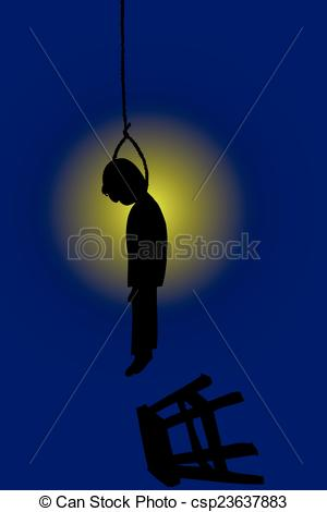Suicide clipart weak man Art suicide Illustration silhouette suicide