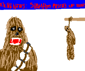 Suicide clipart wookie Of because Chewbacca sad is